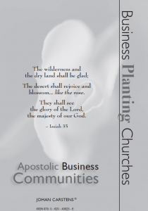Apostolic Business Communities